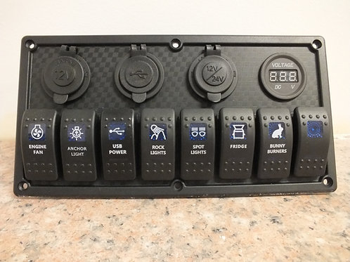8 Switch  4 socket Panel