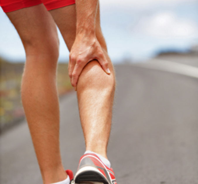 Calf Muscles tend to cramp because they are a far circulation point