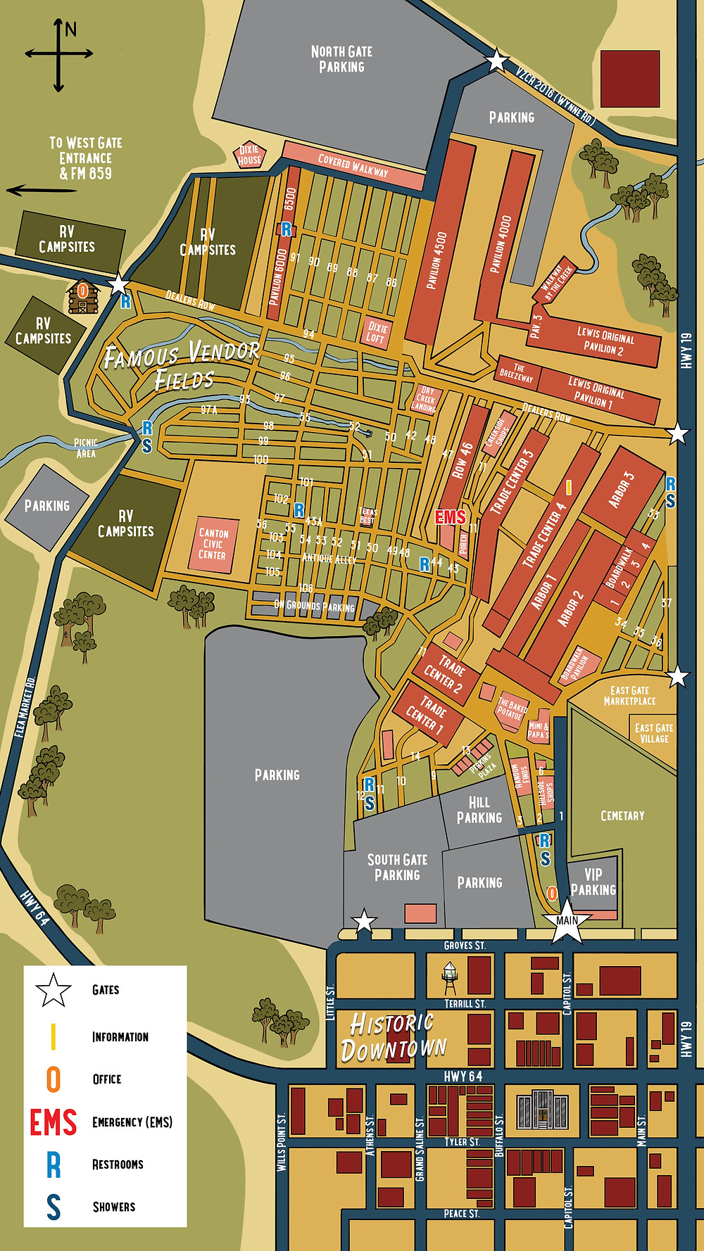 First Monday Canton Map