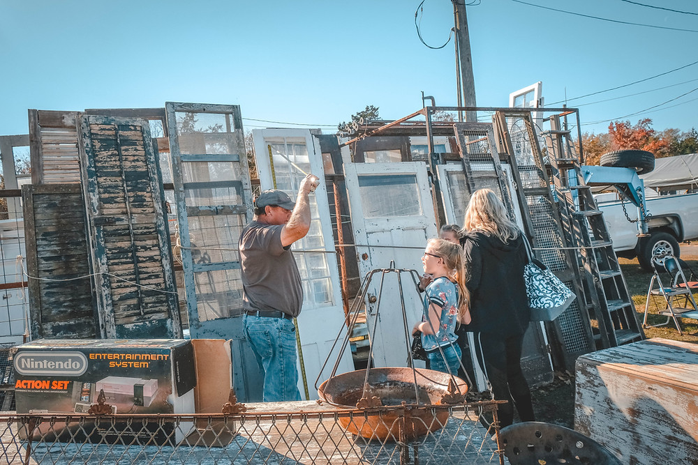 Vendor at First Monday Canton