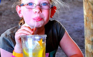 Lemonade and drink options at Yesterland Farm