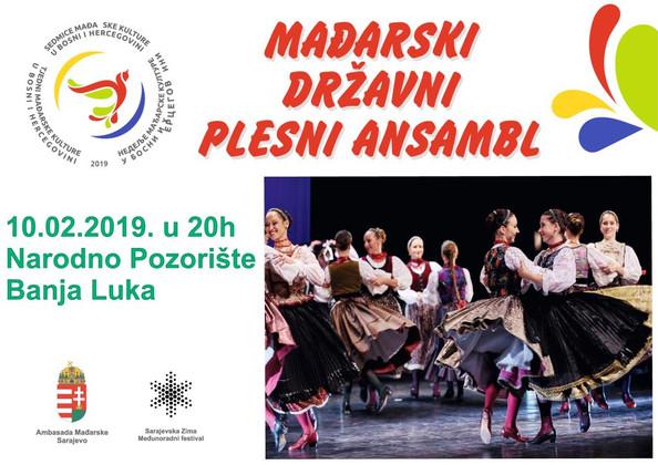Magyar Állami Táncegyüttes  vendégszerepése Banja Lukában /Gostovanje Mađarskog državnog plesnog ans