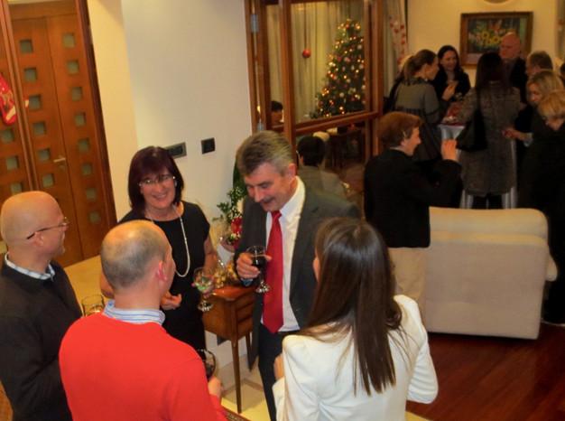 Négyesi József nagykövet karácsonyi fogadása / Božićni prijem ambasadora Jožefa Neđešia