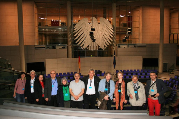 A nemzeti kisebbségek parlamenti-tanácsadó testületeinek képviselői Berlinben/  Predstavnici parlame