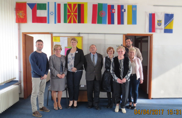 A  budapesti  Magyarság  Háza igazgatónője munkatársaival  meglátogatott bennünket / Posjetila nas j