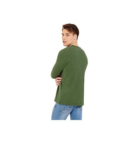 Hanf Langarmshirt Longsleeve Green