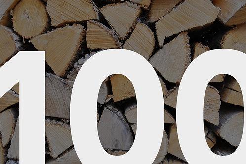 Laubholz gemischt, frisch 100 cm ab Wald