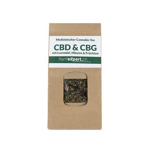 CBD & CBG Tee mit Lavendel, Minze und Früchten