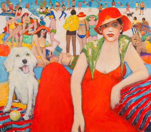 Frau in Rot