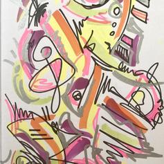 """Vivion - Pen on paper - 5""""x4"""" - $100"""