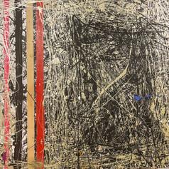 "Web of Pearls - Acrylic on Wood 24"" x 24"" - $430"
