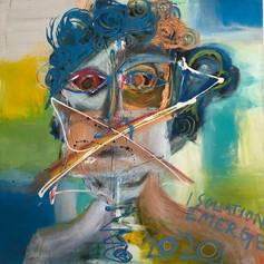 "Isolation Emerge - Acrylic on Canvas 20"" x 24"" SOLD"