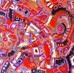 "Circus - Acrylic on Wood 24"" x 48"" - SOLD"