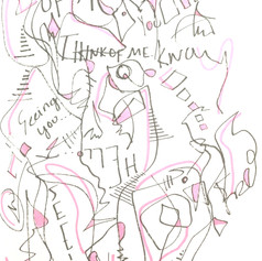 Think Of Me -  Pen on Paper - 5' x 4' - $100