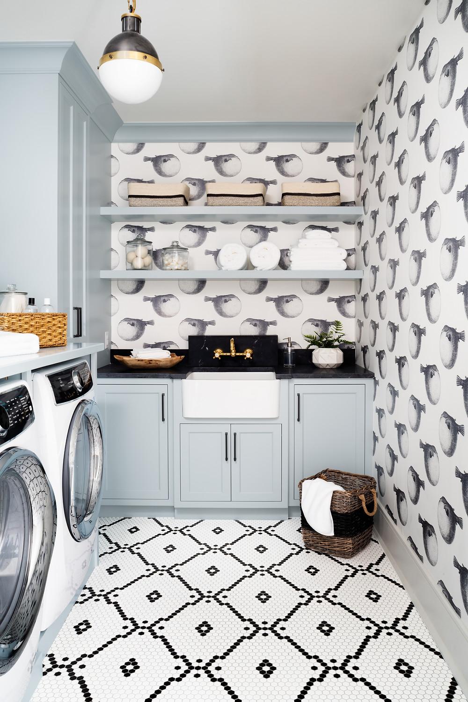Britt Design Studio laundry room from Project Cobblers Kids