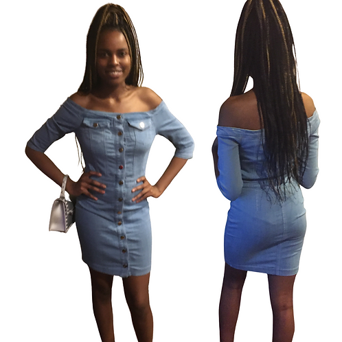 You can never go wrong with denim dress