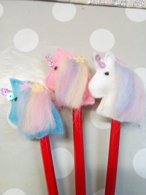 Unicorn pencil toppers