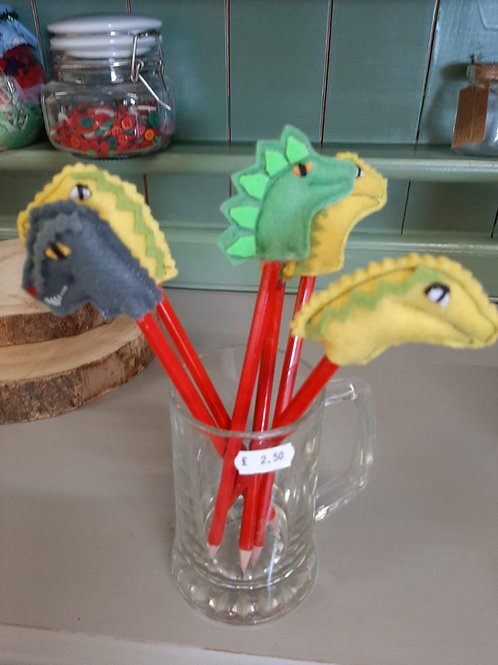 Dinosaur pencil toppers