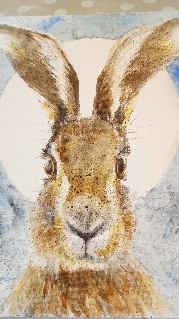Hare painting workshop