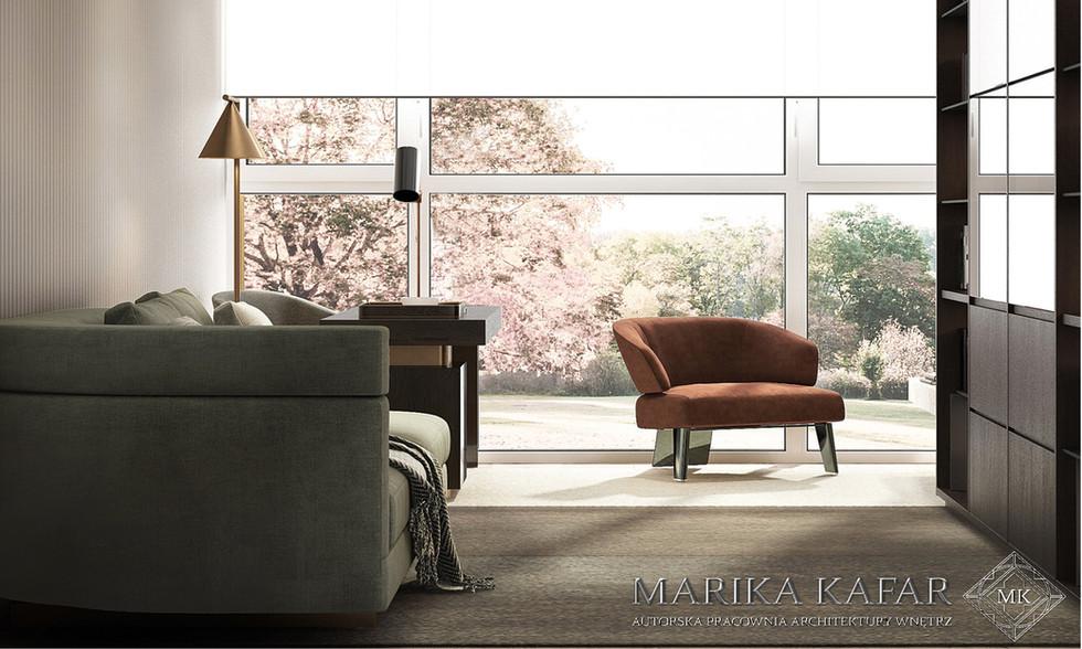 Marika Kafar. Gabinet z przeszkloną ścianą.