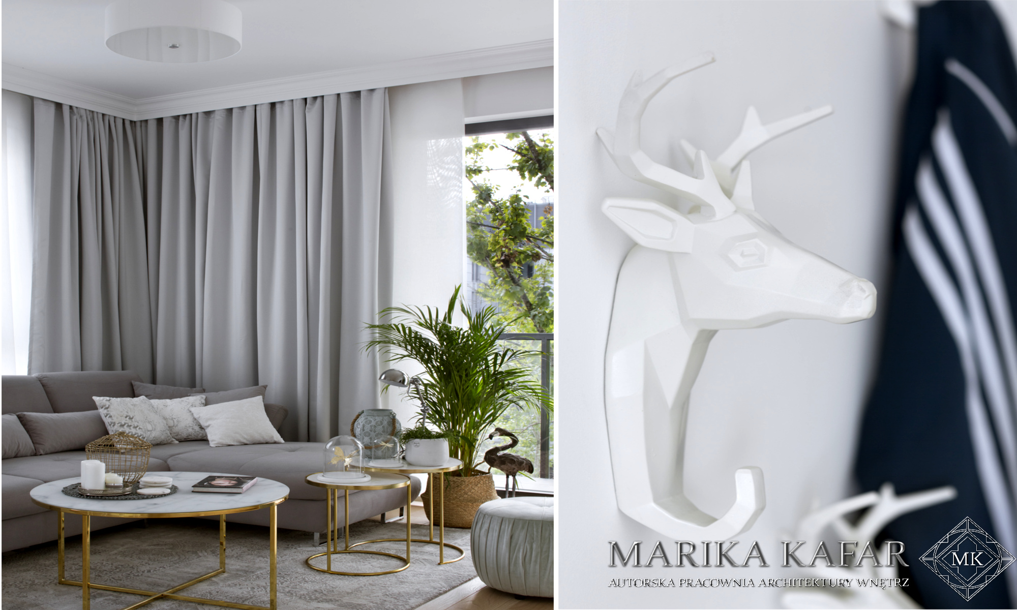 Marika Kafar. Wnętrze w którym detale pełnią ważną rolę.
