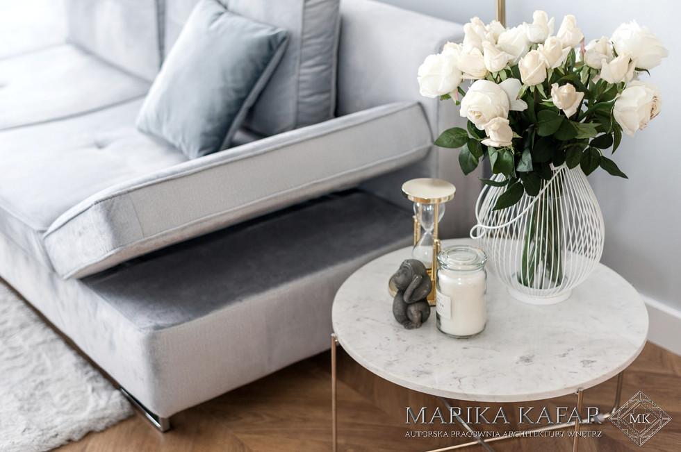 Marika Kafar. Subtelny i kobiecy salon.