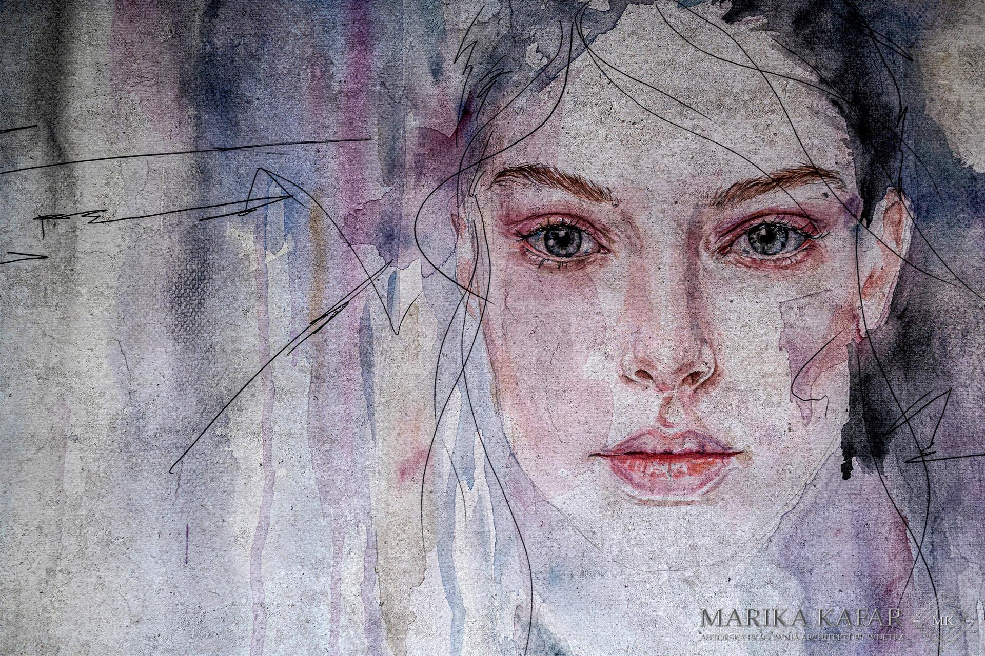 Marika Kafar. Wyrazista tapeta do sypialni.