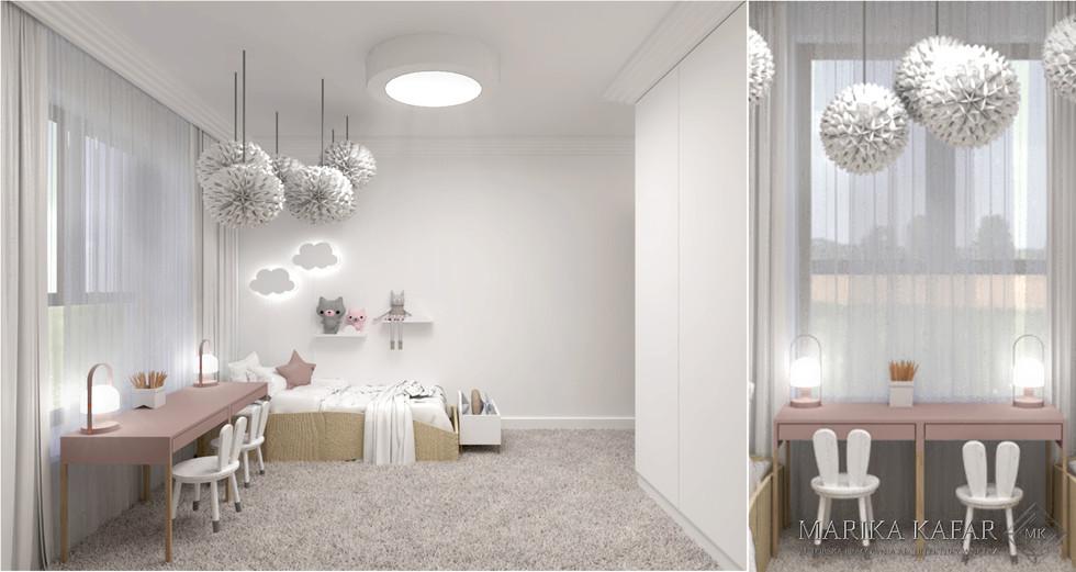 Marika Kafar. Pomieszczenie wyłożone przyjemnym dywane o długim włosiu, idealnym do dzieciecych zabaw.