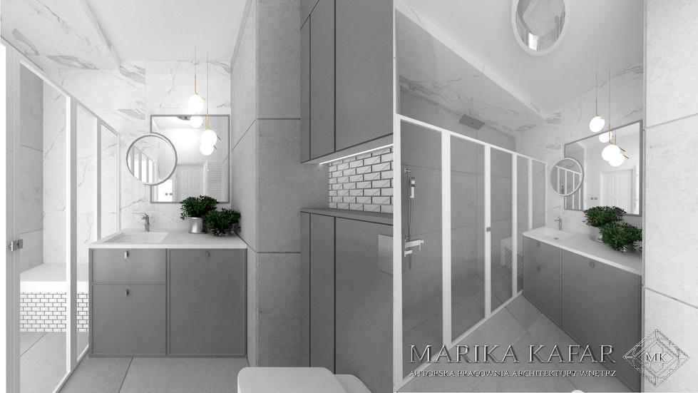 MARIKA KAFAR AUTORSKA PRACOWNIA ARCHITEKTURY WNĘTRZ - łazienka industrialna