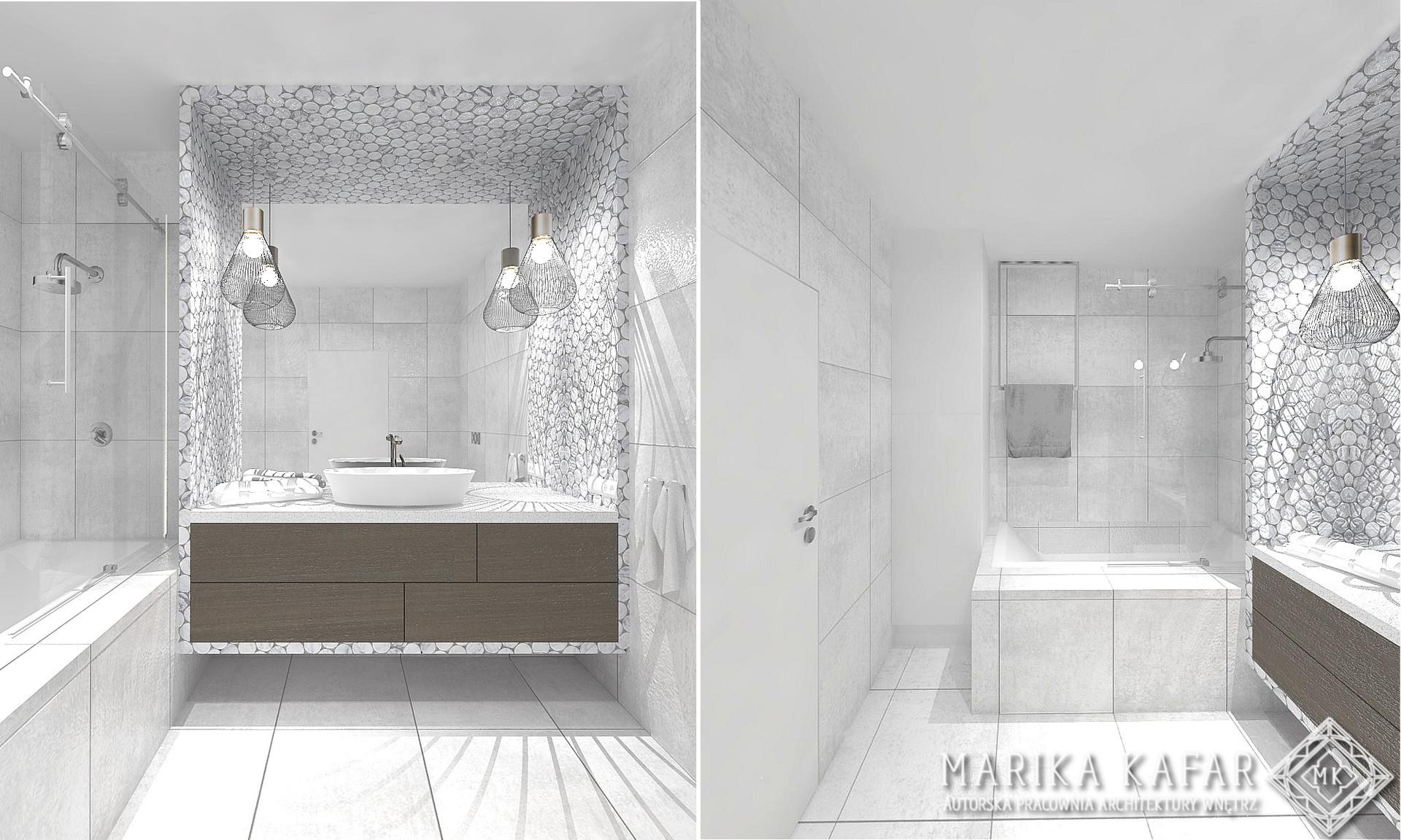 Marika Kafar Autorska Pracownia Architektury Wnętrz- Apartament Różowy