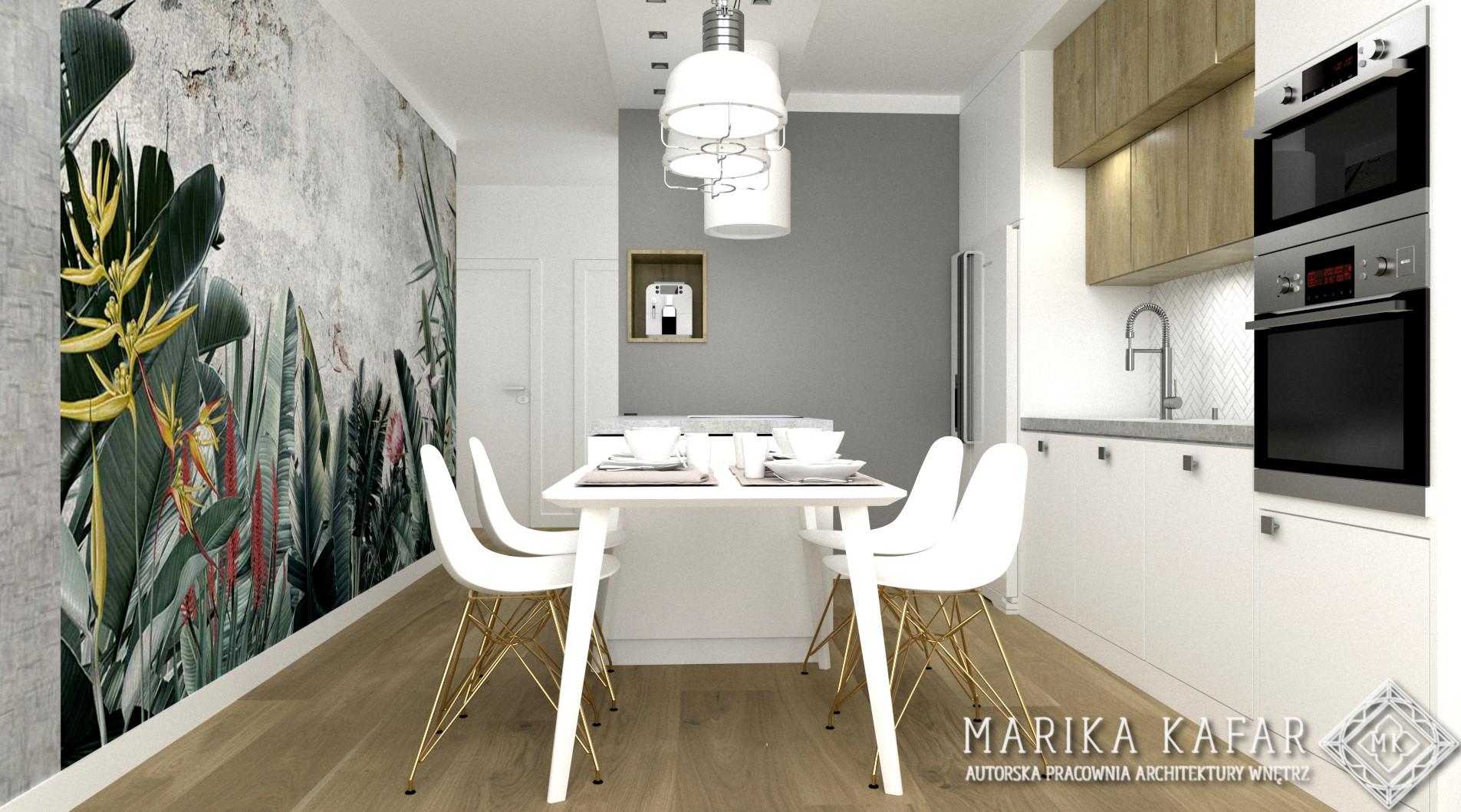MARIKA KAFAR AUTORSKA PRACOWNIA ARCHITEKTURY WNĘTRZ- mieszkanie z drewnem