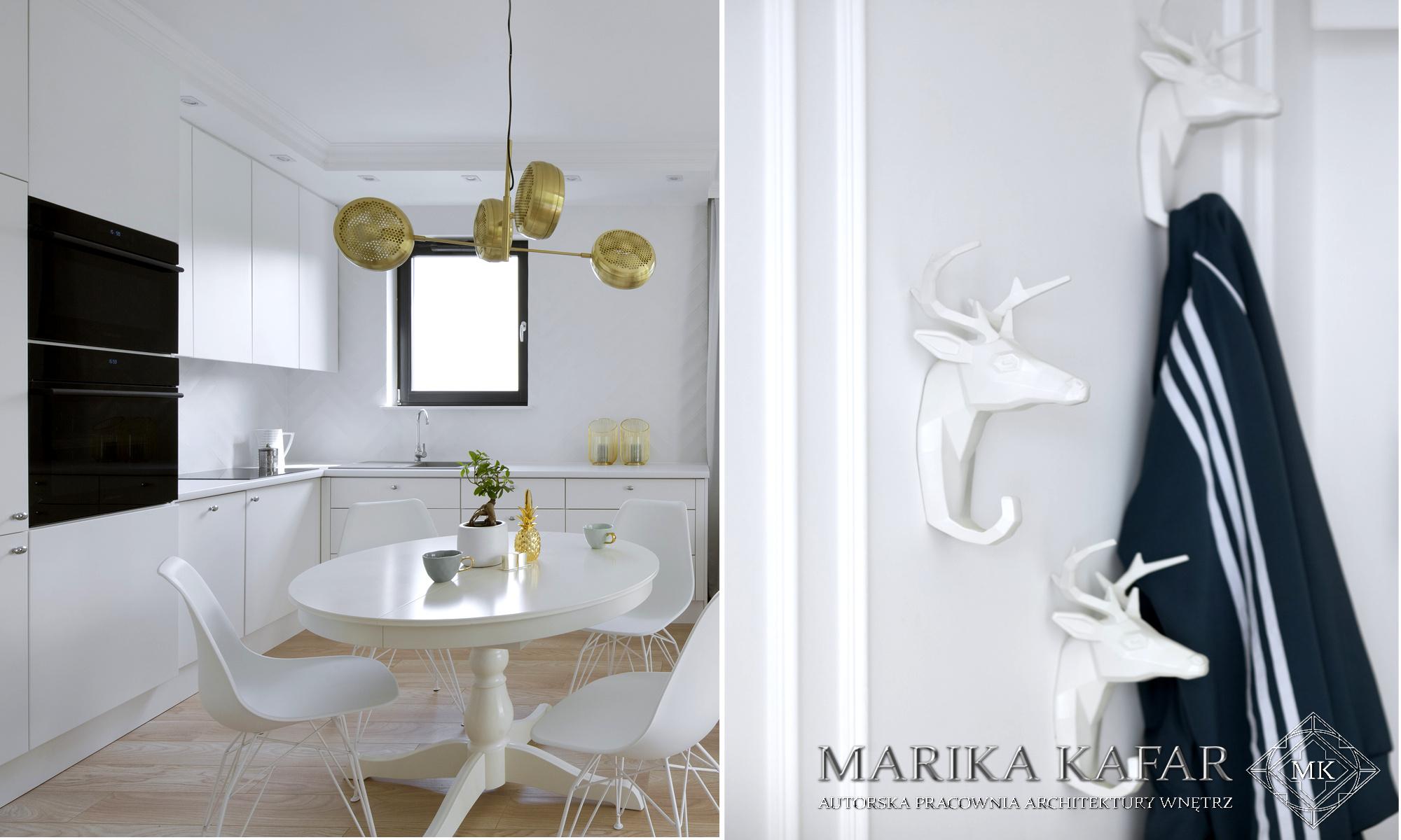 Marika Kafar. Złota designerska lampa.