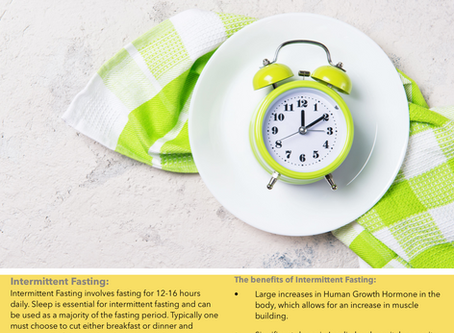 Intermittent Fasting for Your Health