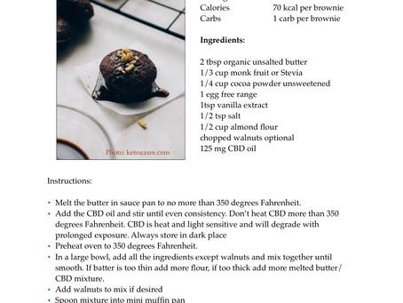 Keto Cannabis Brownie Bites