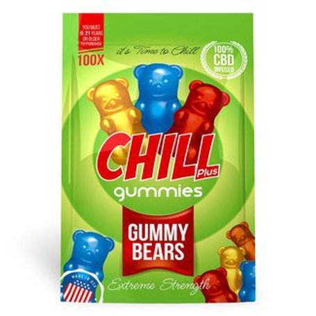 Chill Plus Gummies - CBD Infused Gummy Bears [Edible Candy]