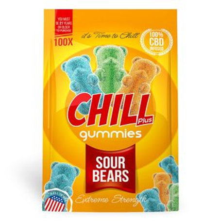 Chill Plus Gummies - CBD Infused Sour Bears [Edible Candy]