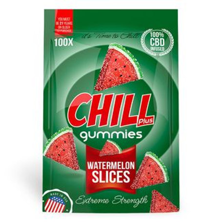Chill Plus Gummies - CBD Infused Watermelon Slices [Edible Candy]