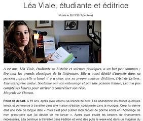 Léa Viale, étudiante et éditrice