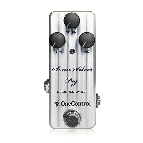 One Control Sonic Silver Peg Bass Preamp