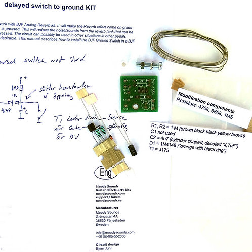 Moody Sounds BJF Ground Switch with Delay kit