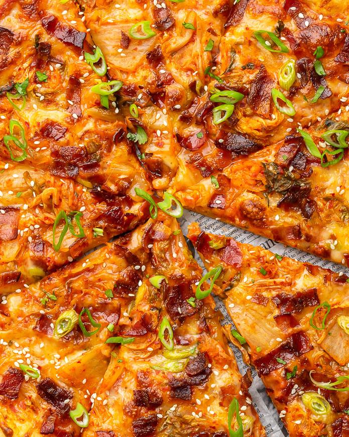 Kimchi Bacon Pizza