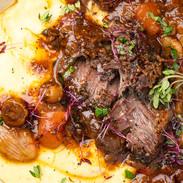 Slow Cooked Beef Cheeks