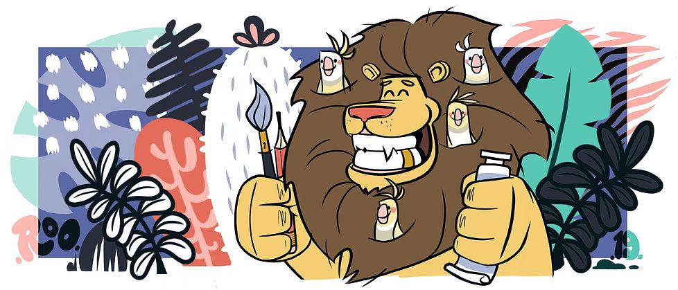 Lion_In_The_Jungle_Print-no border.jpg