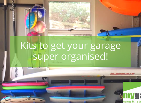Kits to get your garage super organised!