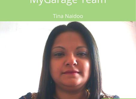 Time to meet the MyGarage Team - Tina Naidoo