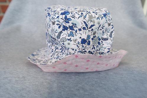 Zonnehoedje bloem blauw/ster roze