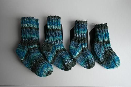 gebreide sokken donkerblauw multi