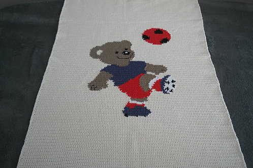 Deken voetbal beer