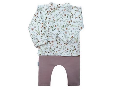 set bloem/roze maat 40