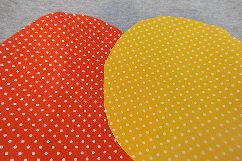 Zonnehoedje stip oranje/geel